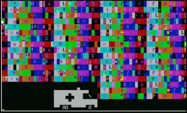 Šis virusas važiuojant ekrane ligoninės automobiliui skleidžia sirenos garsą