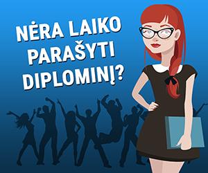 Nėra laiko rašyti diplominį darbą?